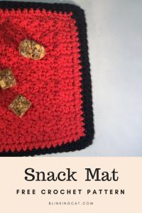 Snack Mat PatternFree Crochet Pattern