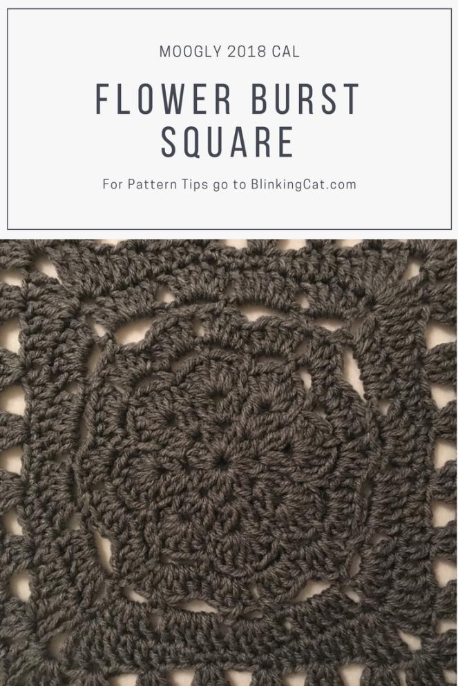 Moogly 2018 CAL Flower Burst Square